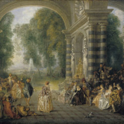 Watteau, Les Plaisirs du bal. Oil on canvas, London Dulwich Picture Gallery, Dulwich, England