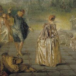 Watteau, Les Plaisirs du bal, detail.
