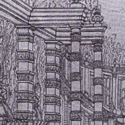 Bérain, stage design, detail