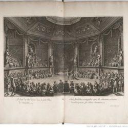 Le Pautre, La Salle de bal donné dans le petit parc de Versailles, in Félibien, Relation de la fête de Versailles du 18e juillet 1668 (1669)