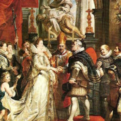 Peter Paul Rubens, Proxy Wedding of Marie de Medici and Henri IV. Oil on canvas, Paris, Musée du Louvre